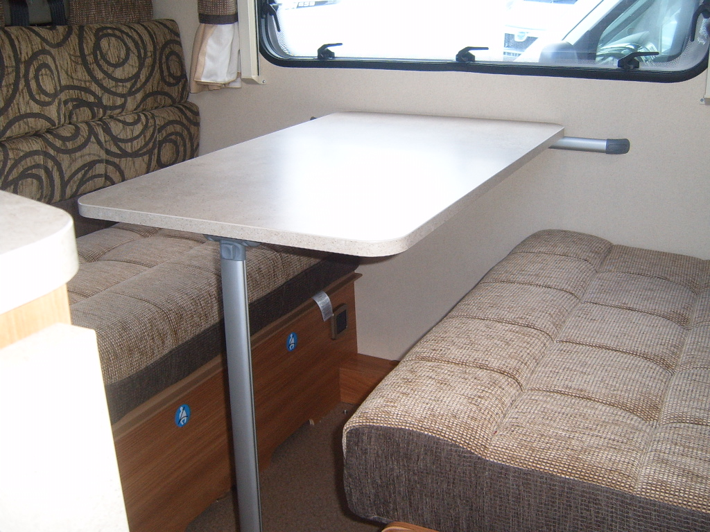Drop down Avondale caravan table