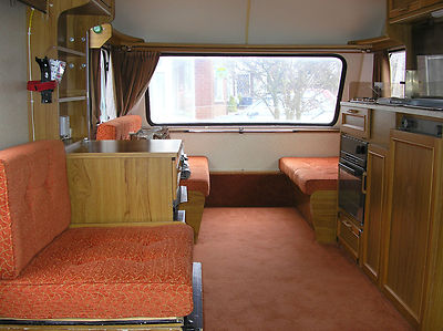 Seats In A Abi Ace Globetrotter Touring caravan.
