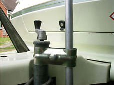 CARAVAN AERIAL OR SAT POLE H/D CLAMP GALVANIZED.