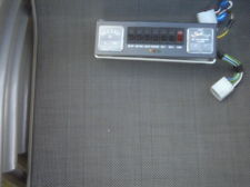 Control panel and battery level charge gauge for caravan campervan