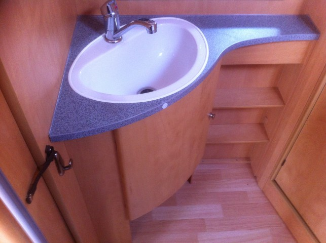Caravan bathroom vanity sink