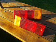 Caravan Rear Light Lens Unit - Wrap Round