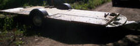 OLD CARAVAN CHASSIS AND BASE 15ft X 7ft TRAILER TRANSPORTER BOAT