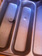 Dual stainless steel sink for campervan